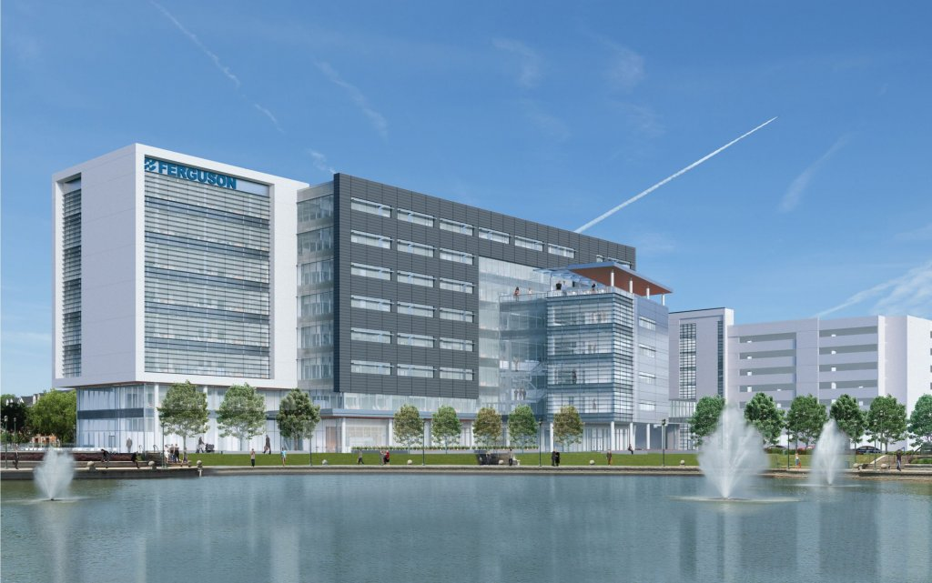 5eb20773124 Ferguson officially broke ground today on their new Headquarters 3 (HQ3)  building located in the heart of Newport News at City Center at Oyster  Point.