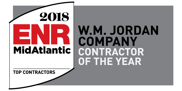 W. M. Jordan Company: ENR Mid-Atlantic's Contractor of The Year!